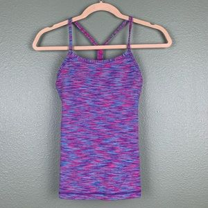 Lululemon Power Y Space Dye Blue Pink Tank Top 2